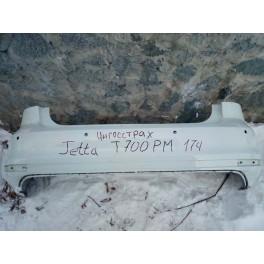 5974 Задний бампер Б/У на Volkswagen Jetta (14-18) 5CU807421CGRU